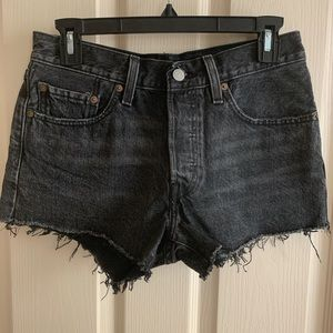 Levi's 501 denim shorts.